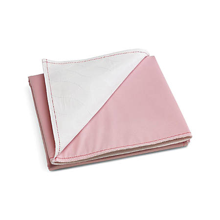 """Sofnit® 200 Reusable Underpads, 32"""" x 36"""", Pink/White, Case Of 12"""