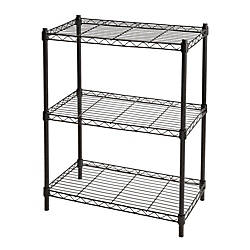 office depot shelves realspace wire shelving 3 shelves 30 h x 23 w x 13 d black 23910