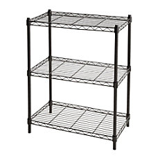 Realspace Wire Shelving 3 Shelves 30