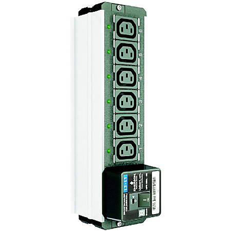 "Vertiv MPX Rack PDU Branch Receptacle Module - North America, Elementary, Six NEMA 5-20R (""t"" slot) receptacles, Phase L3 to Neutral, 120VAC (MPXBRM-NEBA6A3N) - 6 x NEMA 5-20R - Vertical - Rack Mount"