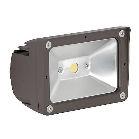 Luminance LED Exterior Floodlight, 10 Watts, 4000K/Cool White, 1069 Lumen, Bronze/Clear Glass