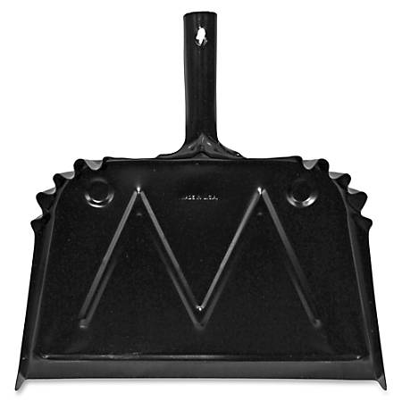 """Genuine Joe Heavy-duty Metal Dustpan - 16"""" Wide - Metal Pan - Black"""