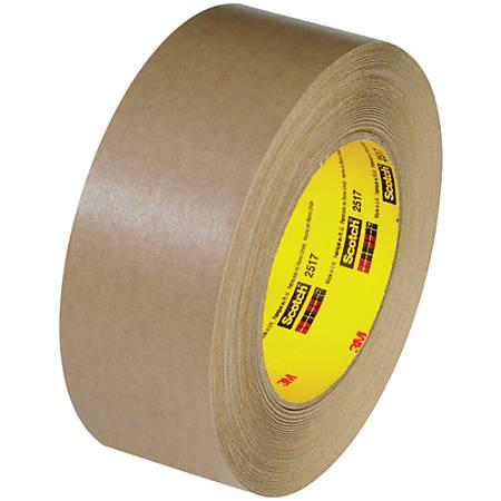 "3M™ 2517 Flatback Tape, 3"" Core, 1.5"" x 60 Yd., Kraft, Case Of 12"