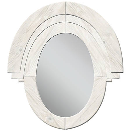 "PTM Images Framed Mirror, Western II, 32 3/4""H x 31 1/2""W, White"
