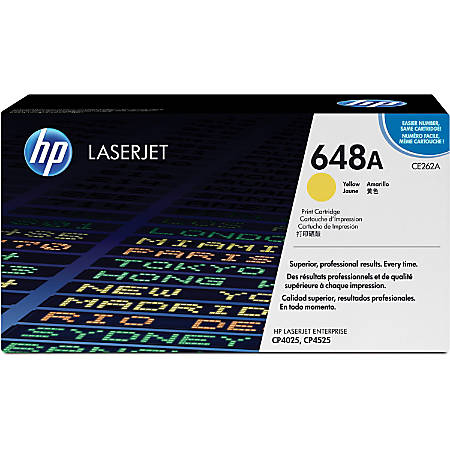 HP 648A, Yellow Original Toner Cartridge (CE262A)