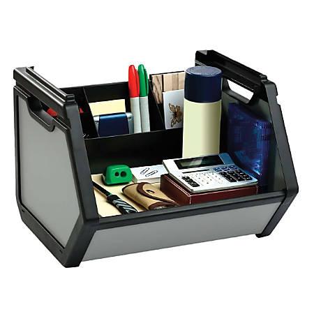 Find It® Stackable Storage Bin, Black