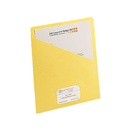 """Smead® Slash File Jackets Convenience Pack, 9 1/2"""" x 11 3/4"""", Yellow, Pack Of 25"""