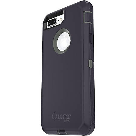 OtterBox Defender Carrying Case (Holster) Apple iPhone 7 Plus Smartphone - Stormy Peaks - Polycarbonate Shell, Synthetic Rubber Cover, Polycarbonate Holster - Belt Clip