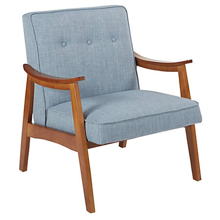 Ave Six Work Smart™ Charlene Chair, Sky Blue/Spice