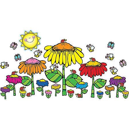 Carson-Dellosa D.J. Inkers Bulletin Board Set — Flower Garden
