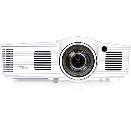 Optoma EH200ST Full 3D 1080p 3000 Lumen DLP Short Throw Projector with 20,000:1 Contrast Ratio and MHL Enabled - 1920 x 1080 - Ceiling, Front, Rear - 1080p - 5000 Hour Normal Mode - 6000 Hour Economy Mode - WUXGA - 20,000:1 - 3000 lm - HDMI - USB