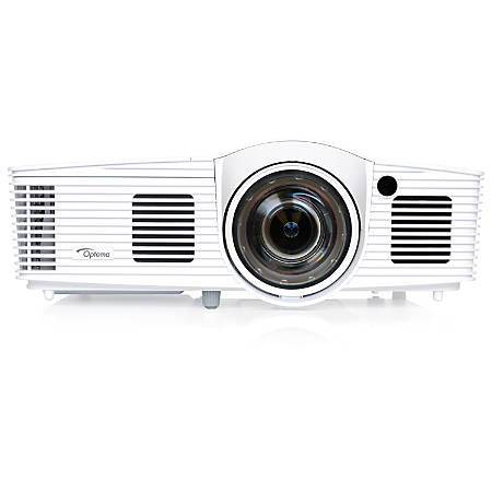 Optoma EH200ST Full 3D 1080p 3000 Lumen DLP Short Throw Projector with 20,000:1 Contrast Ratio and MHL Enabled