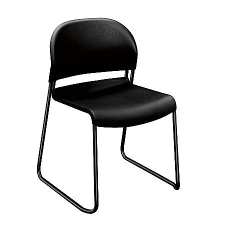 HON® GuestStacker® 4030-Series Chairs, Onyx, Carton Of 4