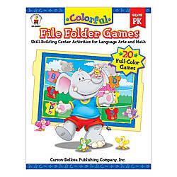 Carson Dellosa Color File Folder Games