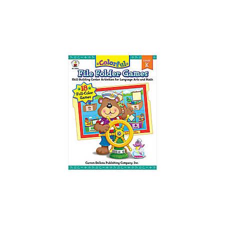 Carson-Dellosa Color File Folder Games Book — Kindergarten