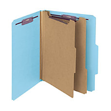Smead Pressboard Classification Folder 2 Dividers
