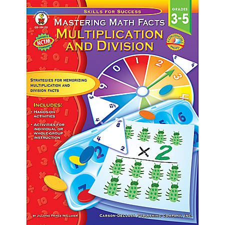 Carson-Dellosa Skills For Success Book — Master Math Facts Multiplication & Division