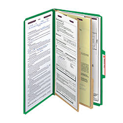 Smead Pressboard Classification Folder With SafeSHIELD