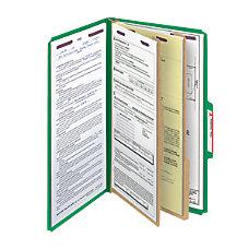 Smead Pressboard Classification Folder With SafeSHIELD