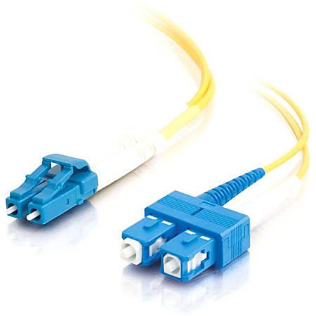 C2G-20m LC-SC 9/125 OS1 Duplex Singlemode PVC Fiber Optic Cable (LSZH) - Yellow