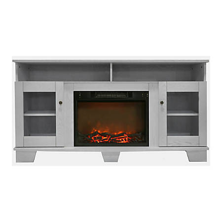 Cambridge Savona Fireplace Mantel with Electronic Fireplace Insert - Indoor - Freestanding