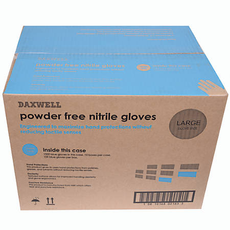 Nitrile Gloves, Large, Box Of 100