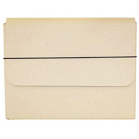 "JAM Paper® Strong Kraft Portfolio With Elastic Closure, 10"" x 13 1/4"", Natural Kraft"