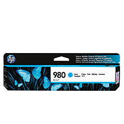 HP 980 D8J07A Cyan Ink Cartridge