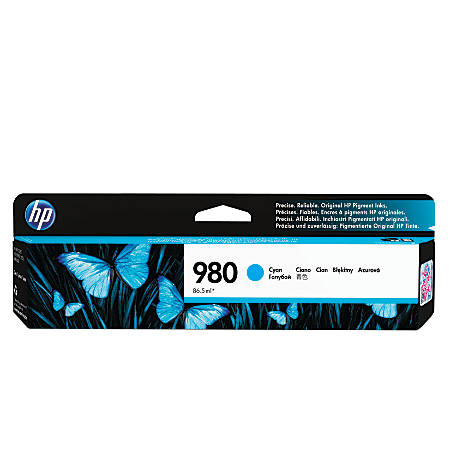 HP 980 (D8J07A) Cyan Ink Cartridge