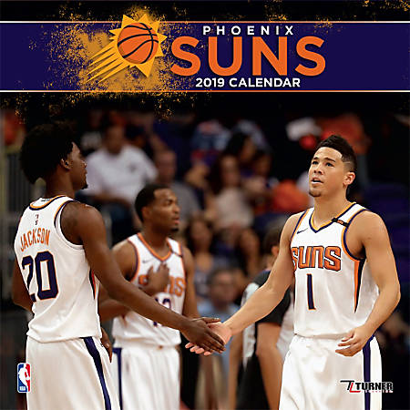 """Turner Sports Monthly Wall Calendar, 12"""" x 12"""", Phoenix Suns, January to December 2019"""