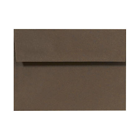 """LUX Invitation Envelopes With Peel & Press Closure, A9, 5 3/4"""" x 8 3/4"""", Chocolate Brown, Pack Of 1,000"""