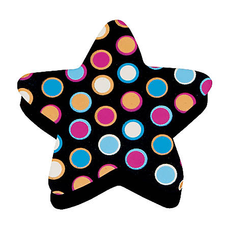 """Ashley Productions Magnetic Whiteboard Erasers, 3 3/4"""", Star Dots, Pack Of 6"""