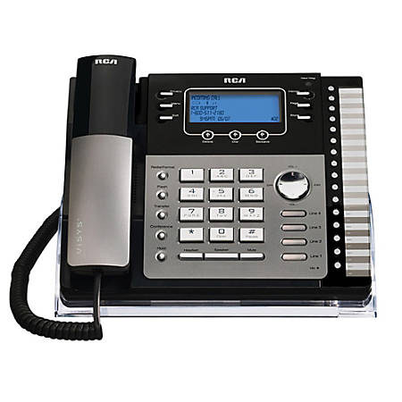 RCA 25424RE1 4-Line Corded Expandable Speakerphone With Caller ID/Call Waiting