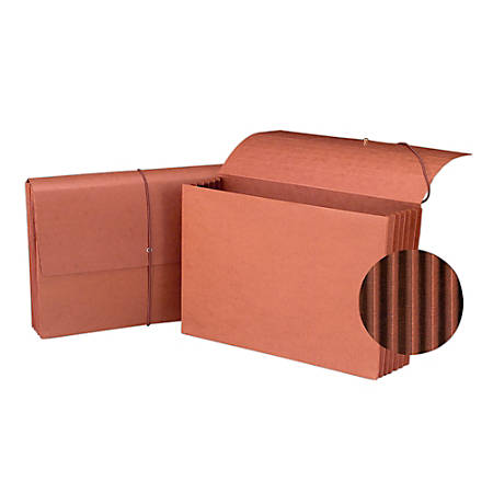 """Smead® Tyvek® Gusset Expanding Wallet, 5 1/4"""" Expansion, Legal Size, 15"""" x 10"""", 30% Recycled, Redrope"""