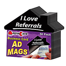 Promag adhesive business card magnets i love referrals pack of 50 by promag adhesive business card magnets i love referrals colourmoves Gallery
