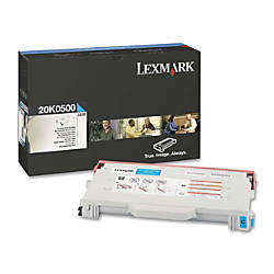 Lexmark 20K0500 Cyan Toner Cartridge