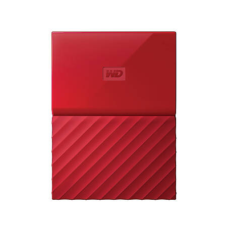 Western Digital® My Passport™ 2TB Portable External, WDBS4B0020BRD-WESN, Red
