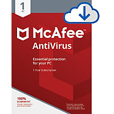 McAfee Antivirus For 1 Device 1