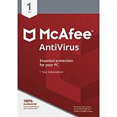 McAfee AntiVirus For 1 Device For