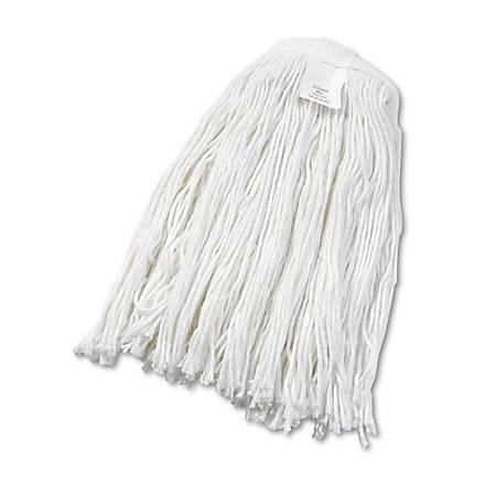 Boardwalk® Cut-End Rayon Wet Mop Head, #24, White