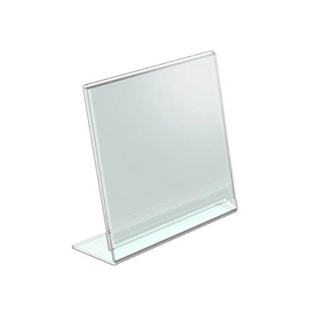 "Azar Displays Acrylic L-Shaped Sign Holders, 3 1/2"" x 5"", Clear, Pack Of 10"