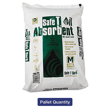 Safe T Sorb™ All-Purpose Clay Absorbent, Tan, 40 Lb, Pack Of 50