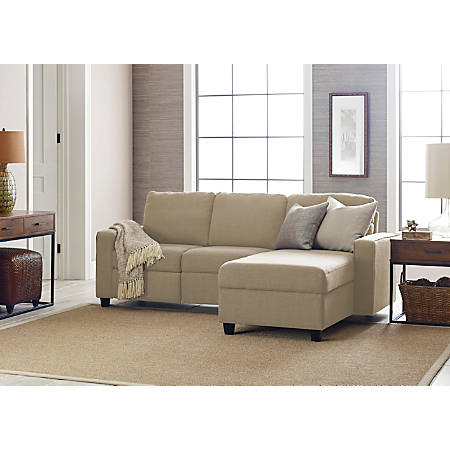 Serta Palisades Reclining Sectional With Storage Chaise, Right, Beige/Espresso