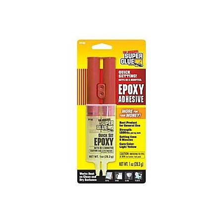 Super Glue Quick-Set Epoxy Syringe - Fiberglass