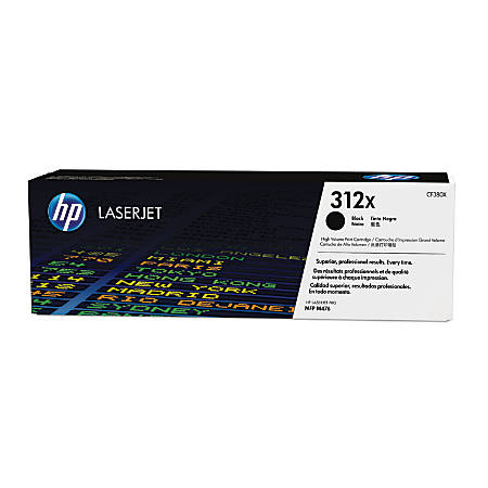 HP 312X High-Yield Black Toner Cartridge (CF380X)