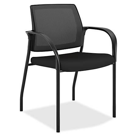HON® Ignition Mesh-Back Multipurpose Stacking Chair, Black