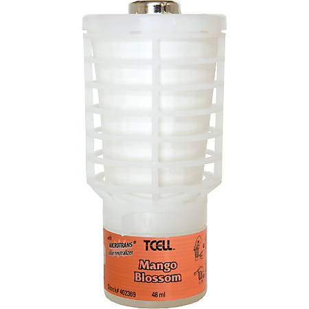 Rubbermaid Commercial T-Cell Odor Control Refill - Gel - 6000 ft³ - Mango Blossom - 60 Day - 1 / Each