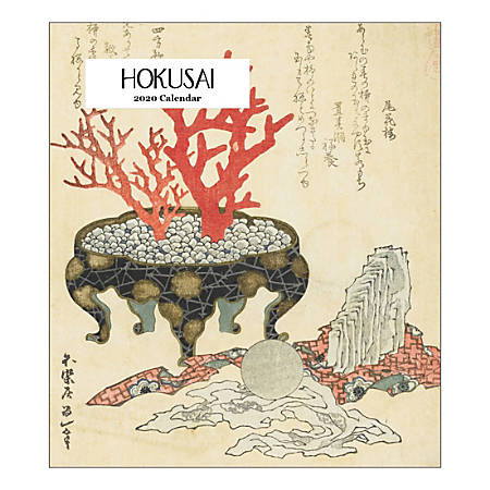"Retrospect Hokusai Monthly Desk Calendar, 6-1/4"" x 5-1/2"", January To December 2020, YCD 053-20"