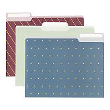 Office Depot Fashion Paper File Folders