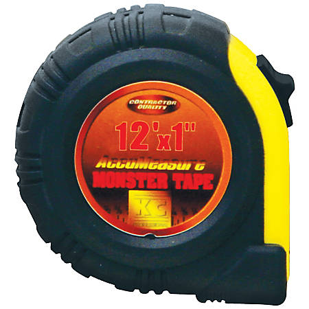 """Kimberly-Clark Professional 12ft Monster Tape Measure - 12 ft Length 0.8"""" Width - Rubber, Stainless Steel"""